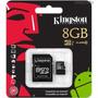 Cartão De Memória Kingston Micro Sd 8gb 12x Sem Juros