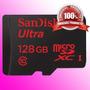 Cartão Sandisk Micro Sdxc Ultra 48mb/s 128gb Sd Galaxy S4 S5