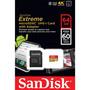 Cartão Memória Sandisk Extreme Micro Sd 64gb Classe10 60mb/s