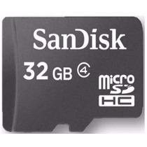 Cartão Memória Micro Sd 32gb Classe 4 Original,leitor Usb