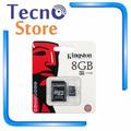 Cartão De Memória Micro Sd 8gb Kingston Com Adaptador Sd