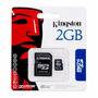 Cartão De Memória 2gb Kingston Micro Sd Adaptador 10 Pcs
