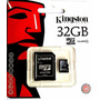 Cartão Micro Sd+adaptador 32gb Kingston Classe 04 Gislaine