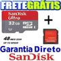 Cartão Memória Micro Sd 32gb Classe 10 30mb/s Tablet Iphone