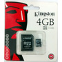 Micro Sd 4gb Kingston Com Adaptador Sd - Usado 1 Vez