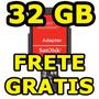 Cartão Memória 32gb Micro Sd Sandisk C/ Adaptador Original B