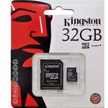 Cartão De Memória Micro Sd Kingston 32gb +leitor+frete Gráti