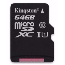 Cartao Memoria Kingston Micro Sdxc 64gb Sd + Adaptador Usb
