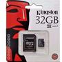 Cartão De Memória Micro Sd Kingston 32gb +leitor Usb