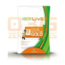 Xbox Live Gold Brasil Br - Cartão De 3 Meses - Xbox 360