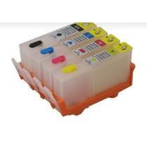 Kit Cartucho Hp/ 5525/3525/4625/4615.com Chip Recarregavel.