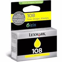 Cartucho Lexmark 108 Amarelo - S308 / S408 / S409 / S608