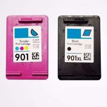 Cartucho Compativel Hp 901 Xl Color + Preto 18ml