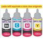 Refil De Tinta Original P/ Bulk Impressora L210 Kit 4 Cores