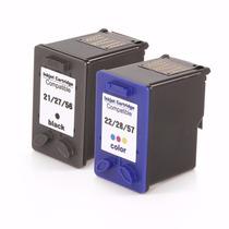 Kit Cartucho Hp C9351 21xl + C9352 22xl Compativel 1410 3600