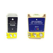 Kit Cartucho Tinta Comp Epson To40 To41 C62 Cx320 T040 T041