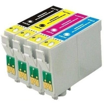 Kit 4 Cartucho Epson Tx235w|420w|430w|tx320f| 100% Novo