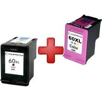 Kit Com 2 Cartuchos Hp 60 Xl Preto E Color D110 F4280 F4480