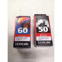 2 Cartuchos Lex Color 17g0060 Preto 17g0050, Novos Originais