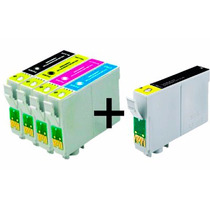 Kit 5 Cartuchos Compatível P/ Epson Impressora Stylus T25