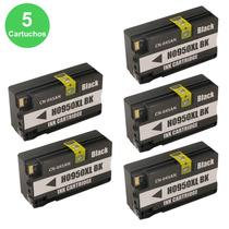 Kit 5 Cartucho Hp Compatível 950xl Preto (black) Officejet 8