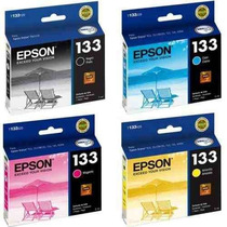 Kit Cartucho Original Epson 133 Preto Cian Magenta Yellow