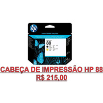 Cabeça De Impressão Hp 88 Preto - Amarelo Original R$ 215,00