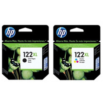 Kit Cartucho Hp 122xl Color E Preto Alto Rendimento