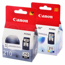 Kit 2 Cartuchos Canon Pg 210,cl 211 Originais