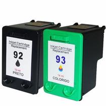 Cartucho Compatível Hp 92 Preto + Hp 93 Color Novo
