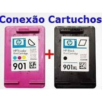 Kit Cartucho Hp 901xl Preto +901xl Color-garantia Total 100%