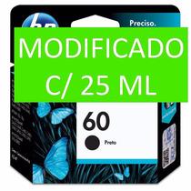 Cartucho Hp 60 Preto Cc640wn Com 25 Ml De Tinta. Compatível!