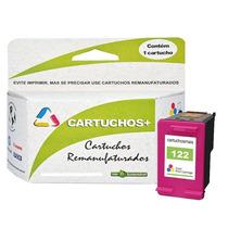 Kit Cartucho Hp 122 20ml Preto + Color 15ml Remanufaturado