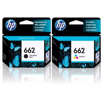Kit Cartuchos Hp 662 Preto + Hp 662 Color Deskjet 1516 Novo
