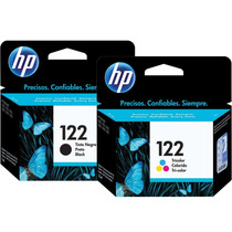 Kit Cartuchos Hp 122 Preto +122 Color Original Novo Lacrado