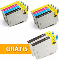 Kit C/10 Cartuchos Compatível Epson T117 T23 T24 Tx105 Tx115