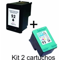 Kit 2 Cartucho Comp 93 E 92 Hp P 5440 7850 1510 6210 C3180