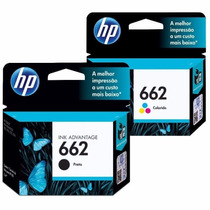 Kit Cartuchos Hp 662 Preto + Hp 662 Color Original Lacrado