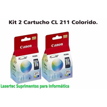 Kit 2 Cartuchos Canon Cl-211 P/mp270, Mp230, Mp250,mx340 Etc