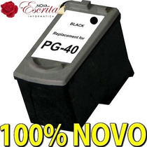 Cartucho Canon Pg40 Preto Compativel Ip1200 Ip1300 Pg-40 Bk