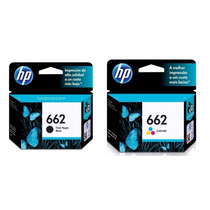 Kit 2 Cartuchos Hp 662 Preto E Color P/ 2516 3516 1516 2546
