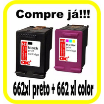 Cartucho Hp 662 Xl Preto + 662 Xl Colorido Alto Rendimento
