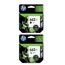 2 Cartucho Para Impressora Hp 662 Xl Negro + Xl Color