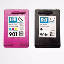 Kit Cartuchos Hp 901xl Preto E 901 Color Compatível