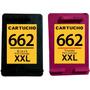 Cartuchos 662 Preto 20 Ml + 662 Color Modificados + Brinde