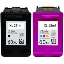 Kit Com 2 Cartuchos Hp 60 Preto E Color D110 F4280 F4480