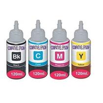 Refil De Tinta Original P/ Bulk Impressora L200 Kit 4 Cores