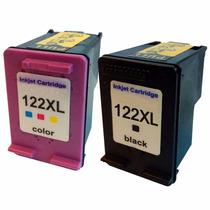 Kit Cartucho Compátivel Hp 122xl Black + 122xl Color