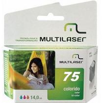 Cartucho Multilaser Compativel Hp 75xl Color Cb337wl - 15ml