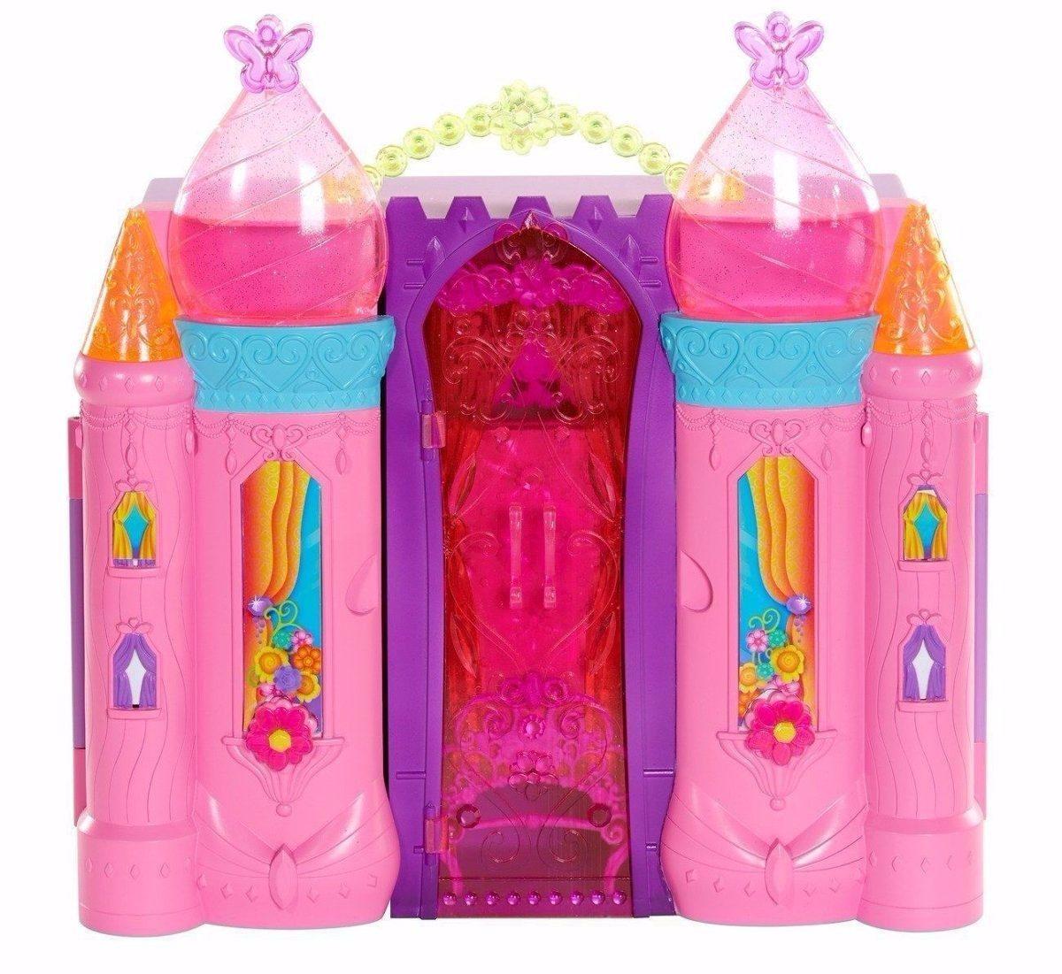 Casa Da Barbie Castelo Importado   Peças Para Montar Luxo R$ 450  #BD0E5F 1200x1101 Banheiro De Luxo Da Barbie